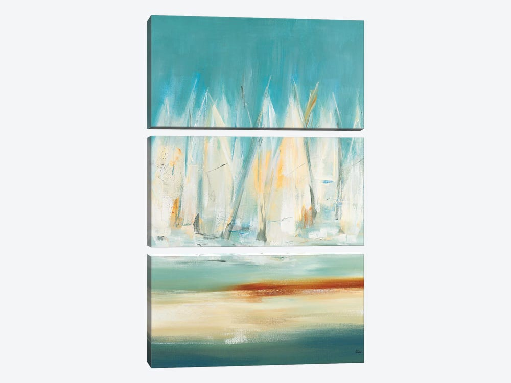 A Day to Sail I by Lisa Ridgers 3-piece Canvas Art