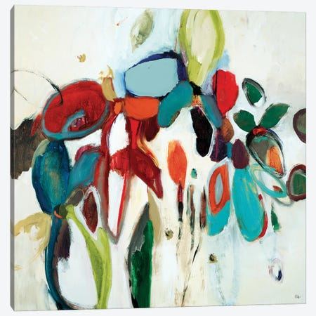 Floral Hints Canvas Print #LRI30} by Lisa Ridgers Canvas Wall Art
