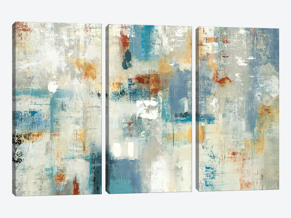 Layers Of Connection by Lisa Ridgers 3-piece Canvas Wall Art