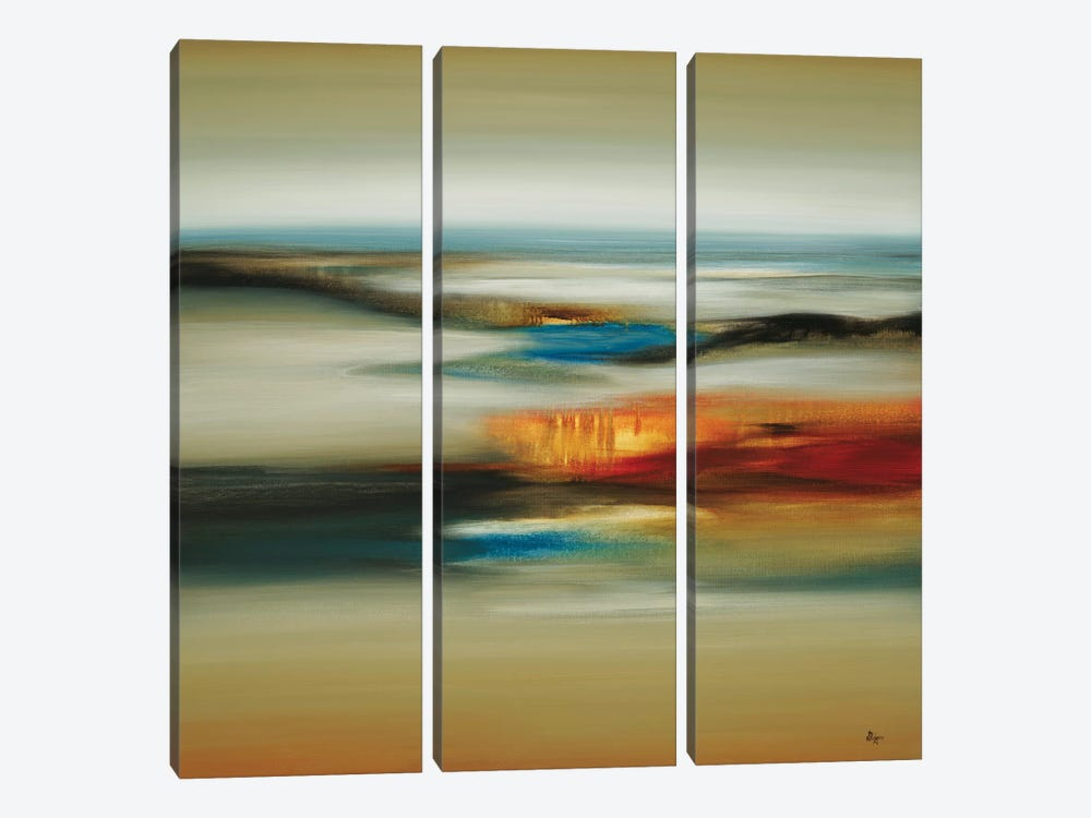 Calm Scape by Lisa Ridgers 3-piece Canvas Art Print