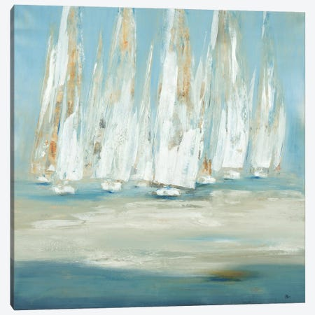 Regatta Canvas Print #LRI54} by Lisa Ridgers Canvas Print