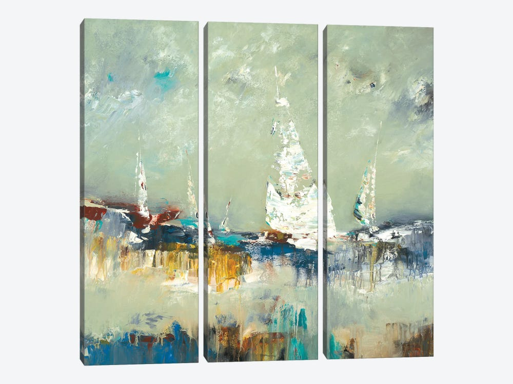 Sailing Away by Lisa Ridgers 3-piece Canvas Artwork