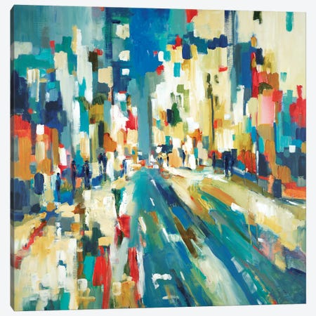 Urban Beat Canvas Print #LRI70} by Lisa Ridgers Canvas Wall Art