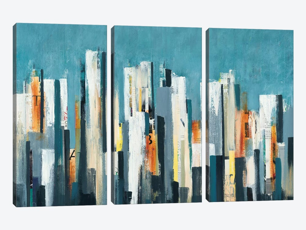 Urban Play by Lisa Ridgers 3-piece Canvas Art Print