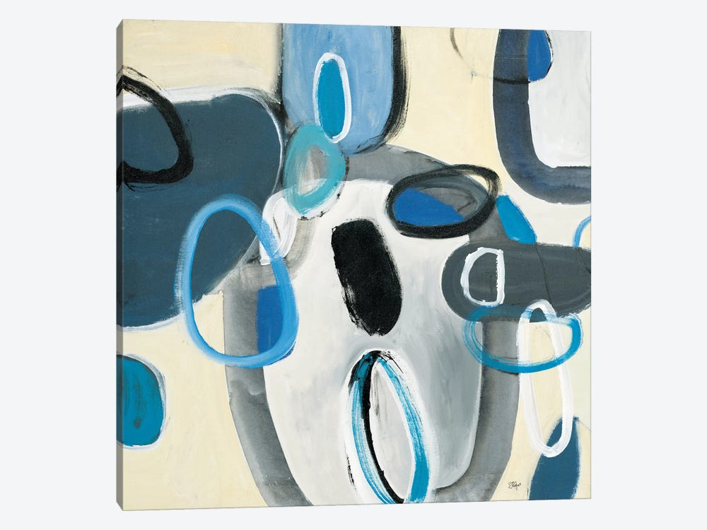 Blue Connection I by Lisa Ridgers 1-piece Canvas Art