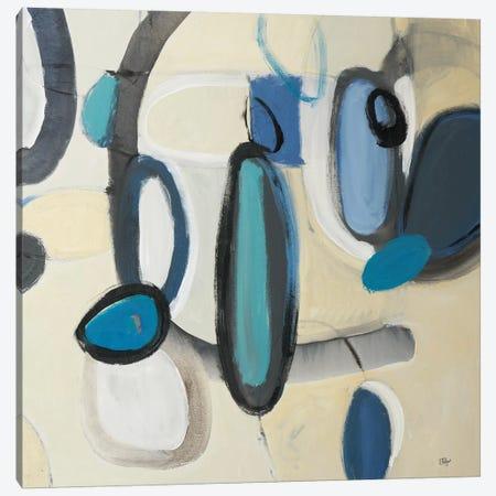 Blue Connection II Canvas Print #LRI87} by Lisa Ridgers Canvas Art