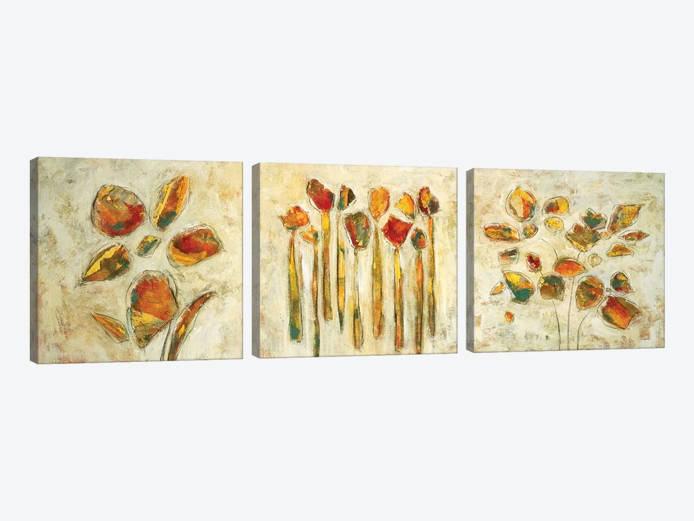 Botanical Trio by Lisa Ridgers 3-piece Canvas Wall Art