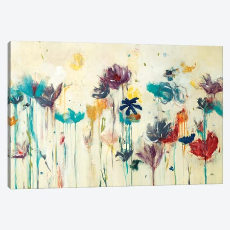 Floral Splash 3-Piece Canvas #LRI97} by Lisa Ridgers Canvas Art Print
