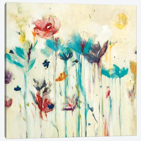 Floral Splash (Detail) I 3-Piece Canvas #LRI98} by Lisa Ridgers Canvas Wall Art