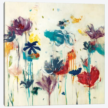 Floral Splash (Detail) II Canvas Print #LRI99} by Lisa Ridgers Canvas Artwork