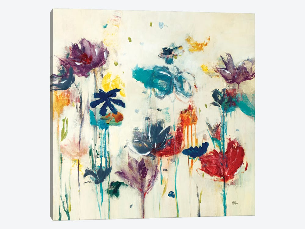 Floral Splash (Detail) II 1-piece Canvas Wall Art