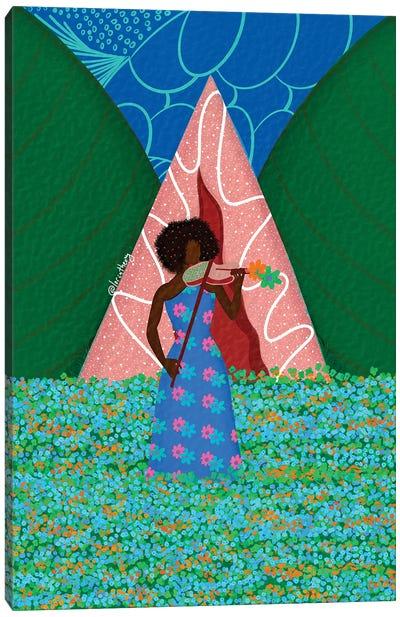 Violonist Canvas Art Print