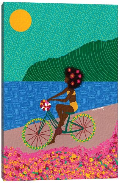Biking Canvas Art Print