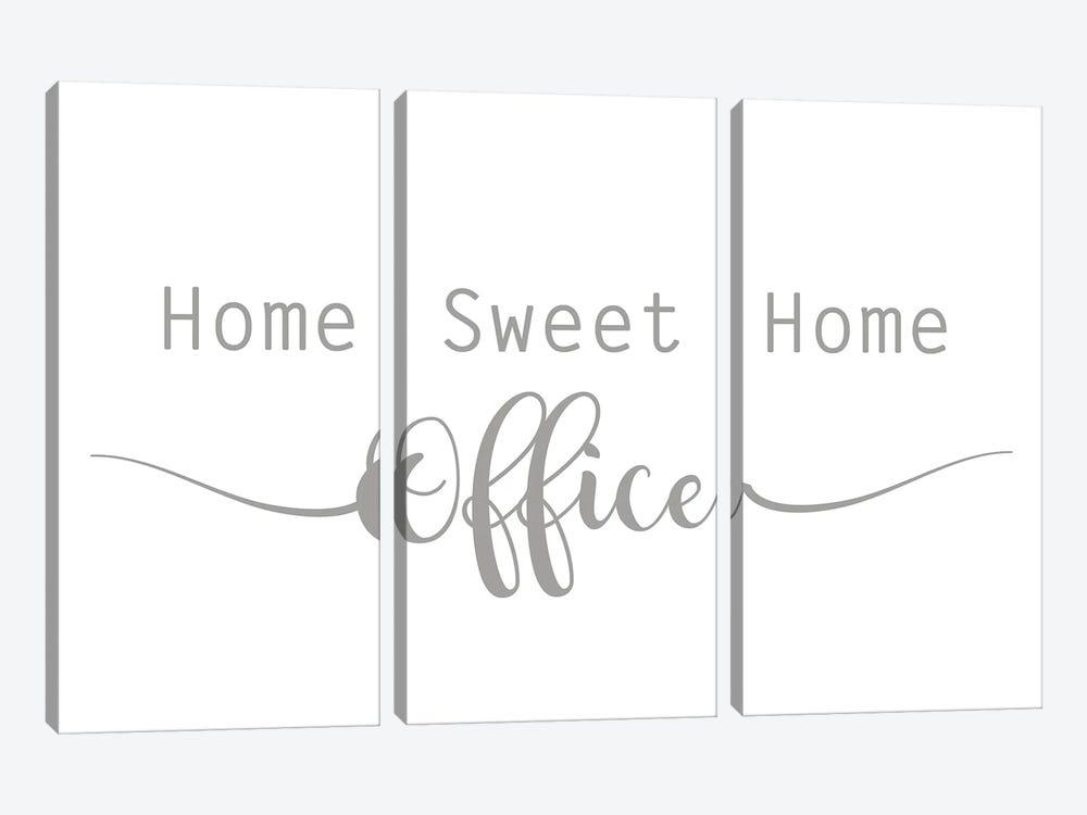 Home Sweet Home Office by Lauren Rader 3-piece Canvas Artwork