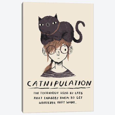Catnipulation 3-Piece Canvas #LRO10} by Louis Roskosch Canvas Wall Art