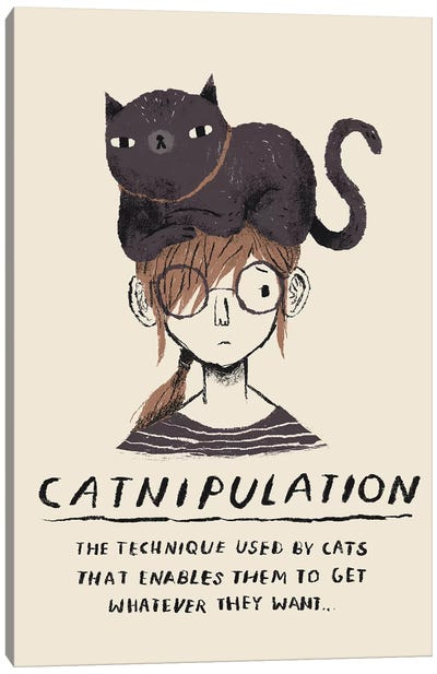 Catnipulation Canvas Art Print
