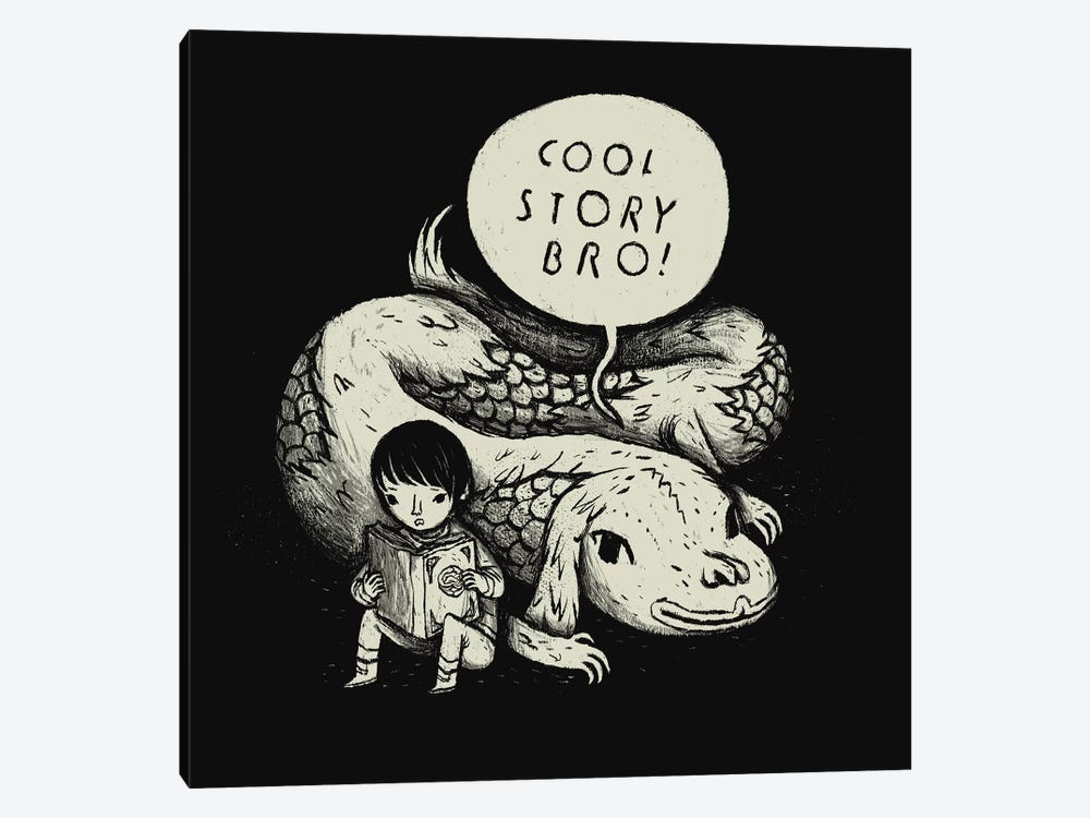 Cool Story, Bro! by Louis Roskosch 1-piece Canvas Artwork