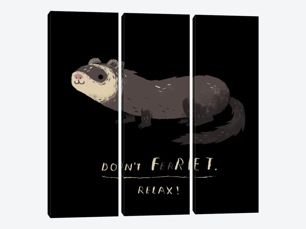 "Don""t Ferret by Louis Roskosch 3-piece Art Print"