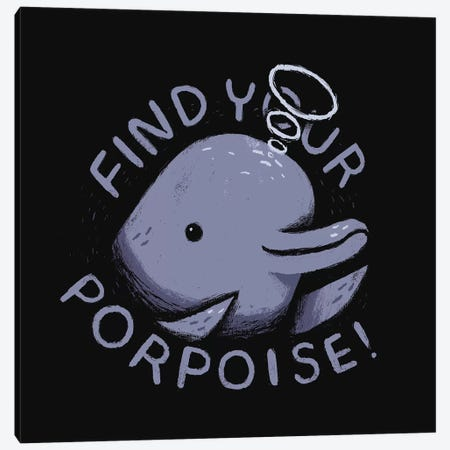 Find Your Porpoise Canvas Print #LRO14} by Louis Roskosch Canvas Print