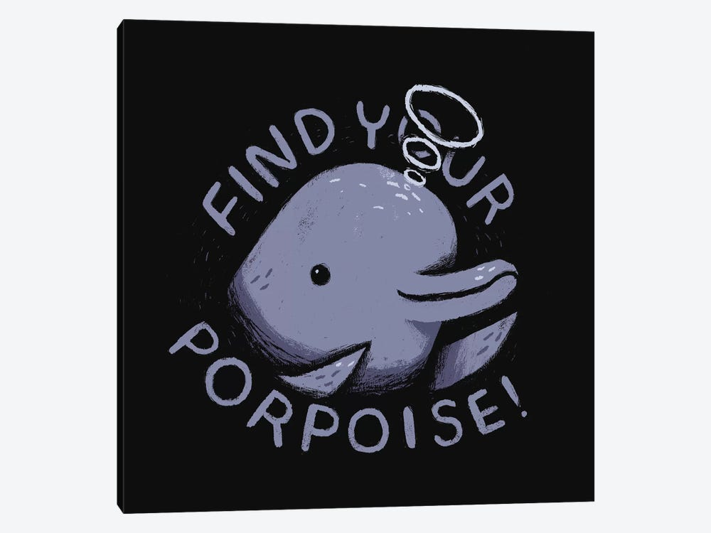 Find Your Porpoise by Louis Roskosch 1-piece Canvas Art Print