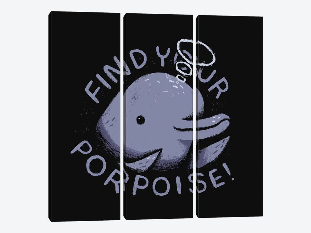 Find Your Porpoise by Louis Roskosch 3-piece Canvas Print