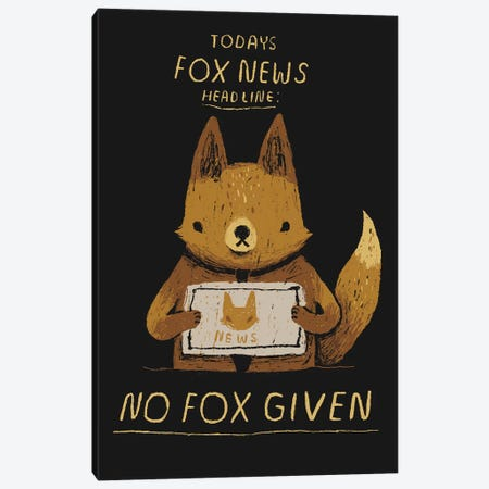 Fox News Canvas Print #LRO16} by Louis Roskosch Canvas Art Print