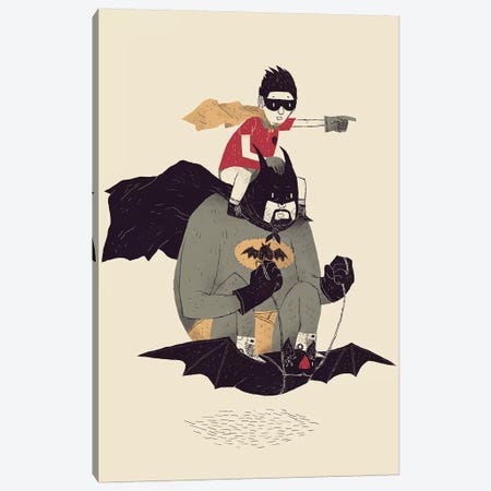 Batmobile Canvas Print #LRO1} by Louis Roskosch Canvas Wall Art