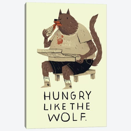 Hungry Like The Wolf Canvas Print #LRO21} by Louis Roskosch Art Print