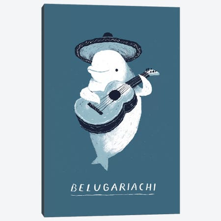 Beluga Canvas Print #LRO2} by Louis Roskosch Canvas Artwork