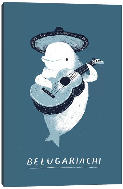 Beluga Canvas Art Print