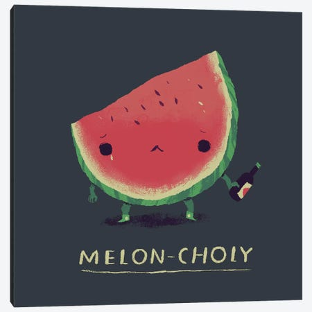 Melon Canvas Print #LRO33} by Louis Roskosch Canvas Artwork