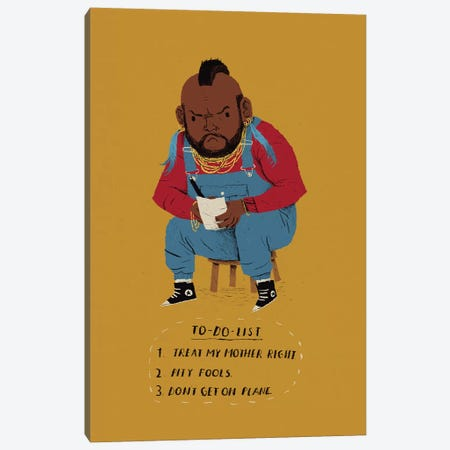 Mr. T's To Do List Canvas Print #LRO37} by Louis Roskosch Canvas Print