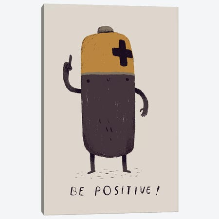 Be Positive 3-Piece Canvas #LRO3} by Louis Roskosch Canvas Artwork