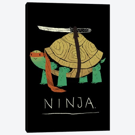Ninja Canvas Print #LRO41} by Louis Roskosch Canvas Art Print