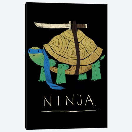 Ninja Blue Canvas Print #LRO42} by Louis Roskosch Canvas Art Print