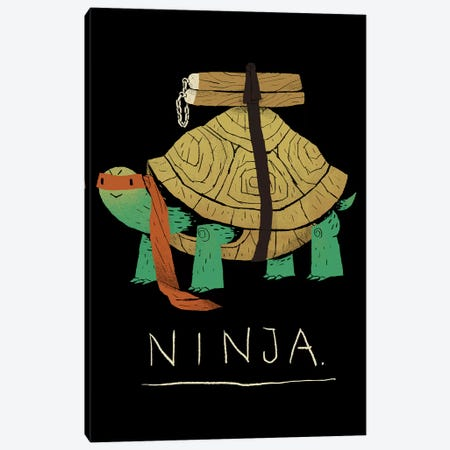 Ninja Orange Canvas Print #LRO43} by Louis Roskosch Canvas Print