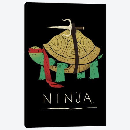 Ninja Red Canvas Print #LRO45} by Louis Roskosch Canvas Artwork