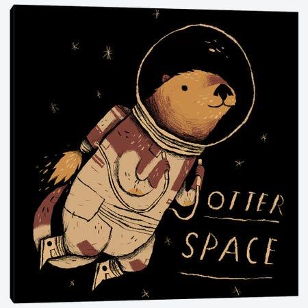 Otter Space Canvas Print #LRO49} by Louis Roskosch Art Print
