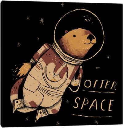 Otter Space Canvas Art Print