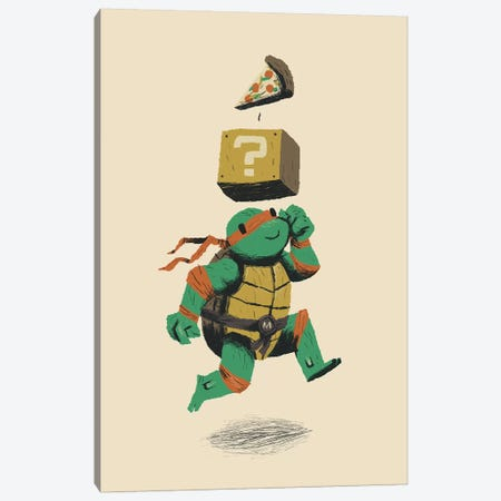 Pizza Power-Up Canvas Print #LRO53} by Louis Roskosch Canvas Wall Art