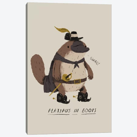 Platypus Canvas Print #LRO54} by Louis Roskosch Art Print