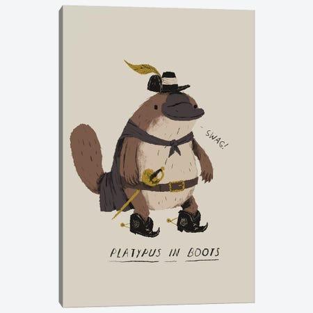 Platypus 3-Piece Canvas #LRO54} by Louis Roskosch Art Print