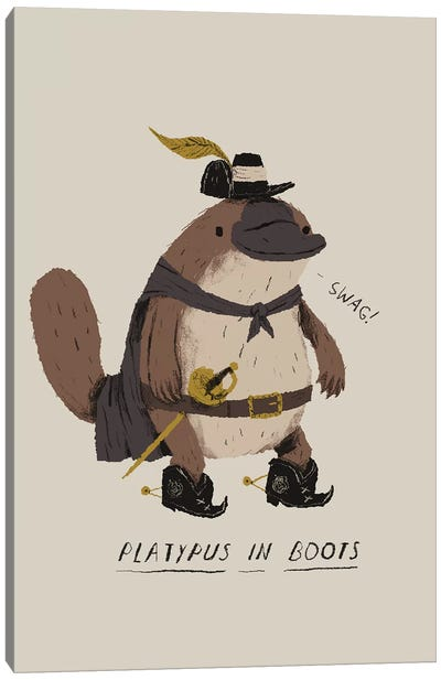 Platypus Canvas Art Print