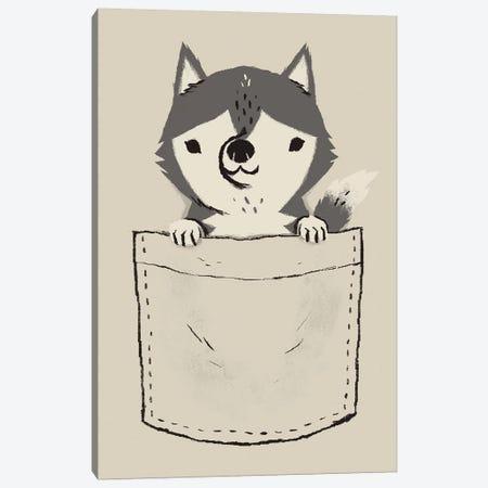 Pocket Husky Canvas Print #LRO55} by Louis Roskosch Canvas Art Print