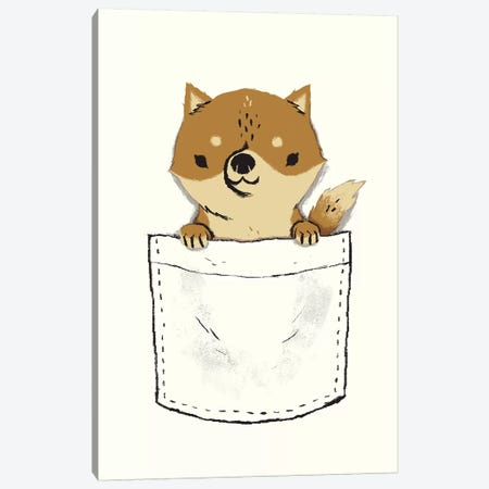 Pocket Shiba Canvas Print #LRO56} by Louis Roskosch Art Print