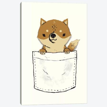 Pocket Shiba Canvas Print #LRO56} by Louis Roskosch Art Print