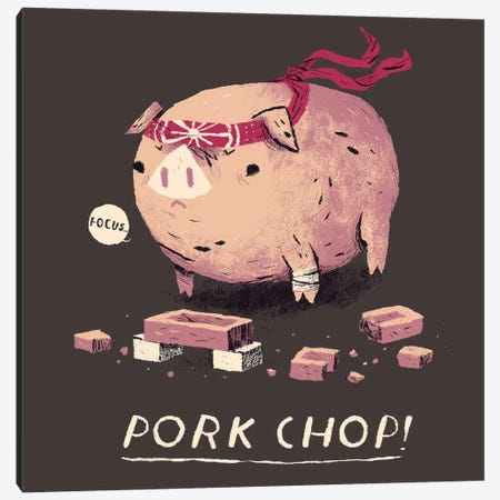 Pork Chop Canvas Print #LRO57} by Louis Roskosch Art Print