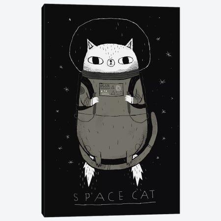 Space Cat Canvas Print #LRO65} by Louis Roskosch Canvas Artwork