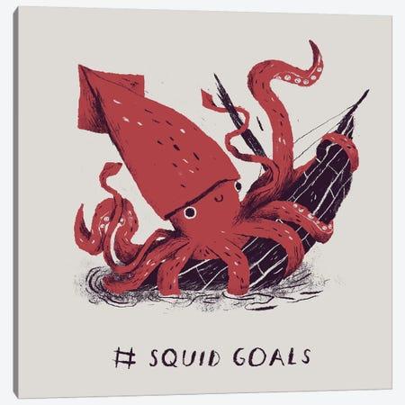 Squid Goals Canvas Print #LRO67} by Louis Roskosch Canvas Wall Art