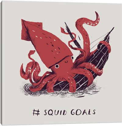 Squid Goals Canvas Art Print